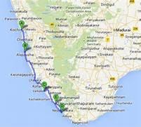 Kerala Backwaters Map ...