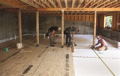 basement floor  concrete jlc