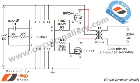 simple  power inverter circuit  dc