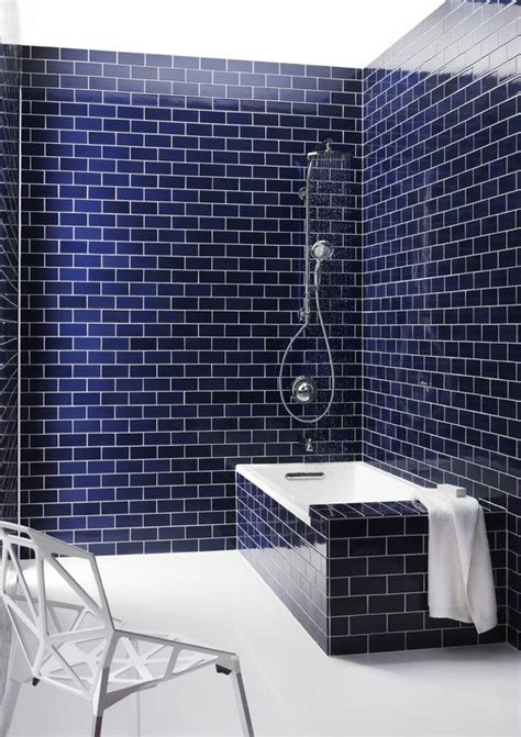 Navy Blue Tiles Bathroom by Navy Blue Tile Bathroom Quot Navy Blue Subway Tile And