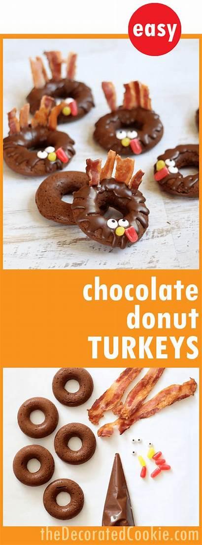 Donut Chocolate Baked Turkeys Thanksgiving Breakfast Treat