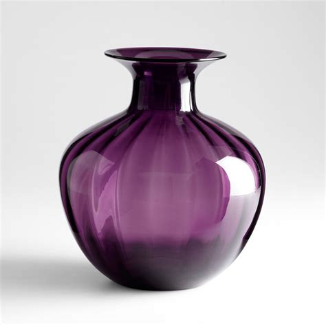 Purple Glass Vase alessandra purple glass vase by cyan design