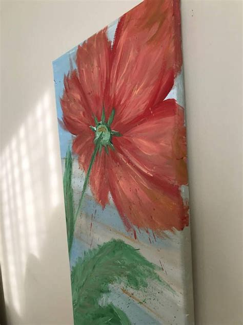 abstract and flower large flower painting