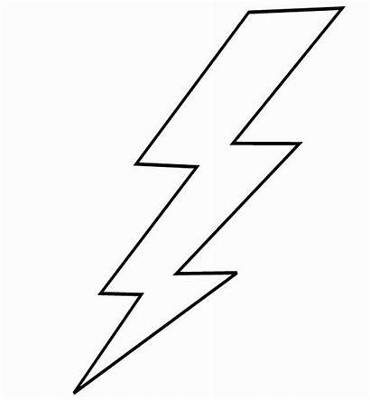 Lightning Bolt Coloring Printable Colorir Drawing