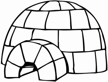 Coloring Pages Igloo Penguin Craft Sheets
