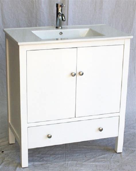 32 inch 18 deep bathroom vanity modern style white color