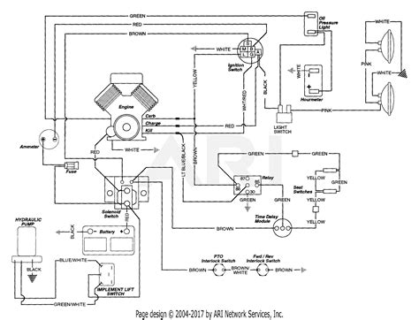 gravely 987059 000101 4 wheel tractor 14hp with hydraulic lift parts diagram for wiring