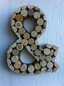handmade letters and symbols made of wine corks by winenotcork With letters made out of wine corks