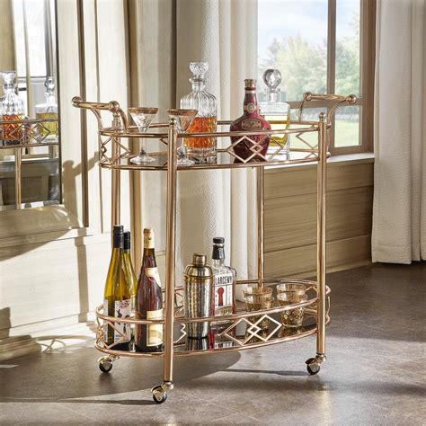 Bar Cart homesullivan ariella gold bar cart 40619gd 07bk the