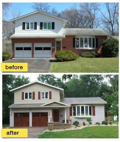 before and after exterior home makeovers before and after garage makeovers midcentury exterior other by clopay building products