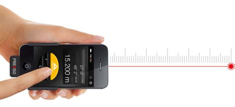 iphone measuring app prexiso ic4 lets your iphone measure distances with a laser