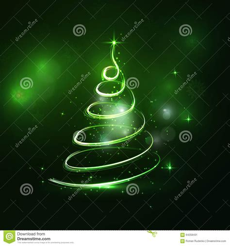 193 rbol de navidad verde claro abstracto en fondo oscuro con