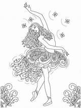 Coloring Dance Pages Printable Getdrawings Ballet sketch template
