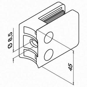glasklemme mod 42 ohne gummieinlage rohr o483 mm v4a With französischer balkon mit sonnenschirm rechteckig zum kippen