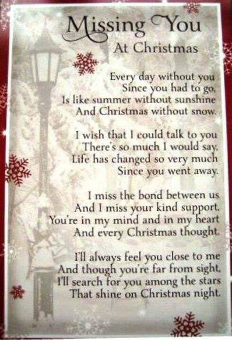 christmas missing loved  quotes quotesgram