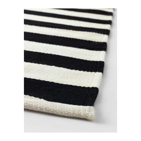 ikea white rugs stockholm rug flatwoven handmade striped black off white 170x240 cm ikea