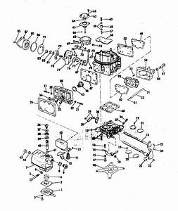 Omc Stern Drive Carburetor Group 235 Hp Parts For 1977