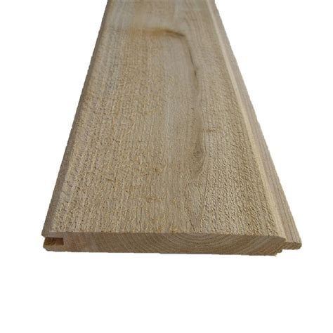 1 X 6 Shiplap Boards by 1 In X 6 In X 8 Ft Pattern Stock Cedar Tongue And