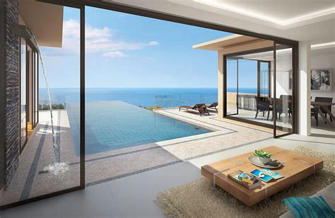 pool house plans with bedroom 3 4 bedroom luxury sea view villas naithon house nai