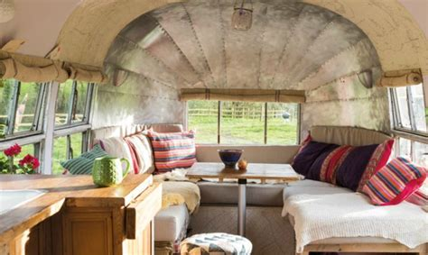 Picture Window Curtains by Couple Convert Vintage 1954 Airstream Into Their Dream