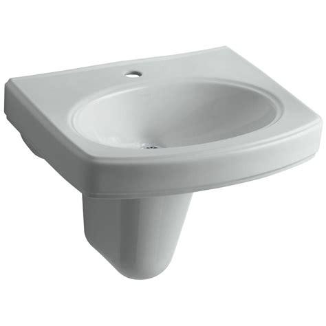 kohler wall hung sink kohler pinoir wall mounted vitreous china bathroom sink in