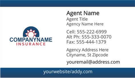 farmers allstate american family insurance business card