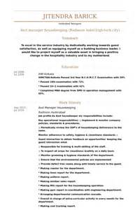 sle of housekeeping manager resume asst manager resume sles visualcv resume sles database