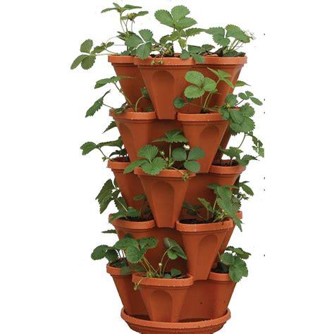 Vertical Wall Garden Planter by Plastic Vertical Stackable Planter Plant Herb Flower Pot