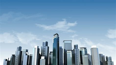 construction building city skyline  stock footage video