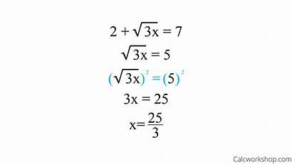 Radical Equation Equations Solve Solving Root Square