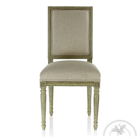 chaise grise tissu chaise louis xvi en tissu beige et patine grise chaise