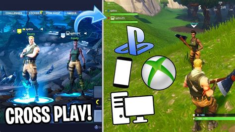 cross play  fortnite play  ps xbox
