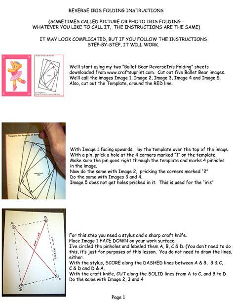 reverse iris folding instructions