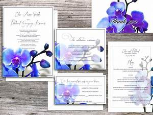 Wedding invitations printable templates santa clara blue for Wedding invitations blue orchids