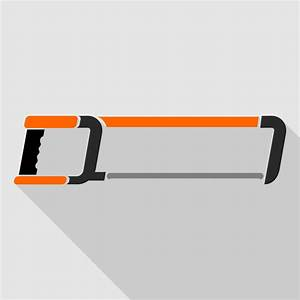 Vector for free use: Hacksaw