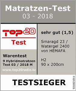 Gel Matratzen Testsieger : top 20 matratzen test 2018 testsieger hemafa watergel ~ A.2002-acura-tl-radio.info Haus und Dekorationen