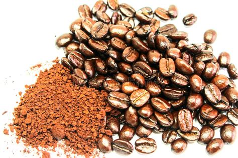 Single origin, blend, direct trade coffee. Close-up Shot Coffee Seeds On White Background Stock Photo - Image of horizontal, image: 49488758
