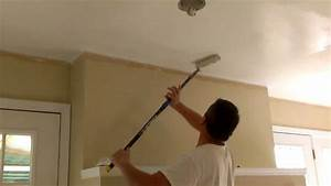 how to paint ceilings in 10 minutes youtube With steps to paint your bathroom ceiling