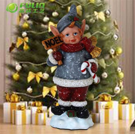 arts and crafts resin child animated christmas figurines