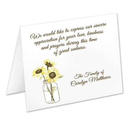 There are many options available when it comes to planning a funeral service. Sympathy Acknowledgement Cards, Funeral Thank You Cards, Sympathy Thank Yous, Funeral Cards ...