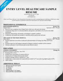 Entry Level Nursing Resume Objective by Entry Level Healthcare Resume Exle Http Resumecompanion Student Health Career