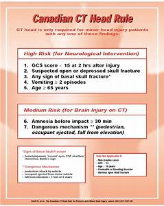 Scale Chart Checklist For Head Injury Management Evaluation Study