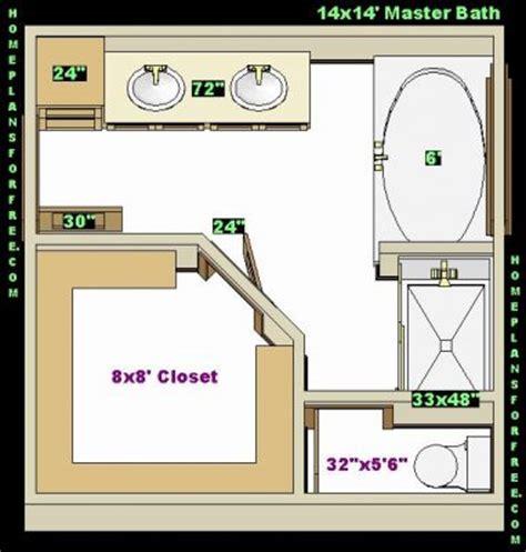 14X14 Master Bathroom Layout