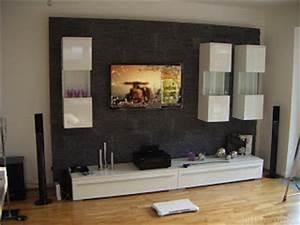 Steinwand Wohnzimmer Tv : andre para ~ Bigdaddyawards.com Haus und Dekorationen