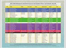 2018 Liturgical Calendar Year B K2018 Sola Publishing