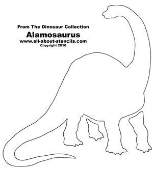 dinosaur stencil designs  nursery decorations