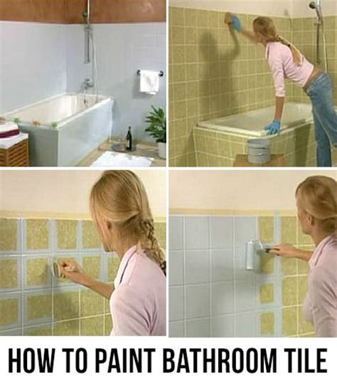 how to paint bathroom tiles for the home