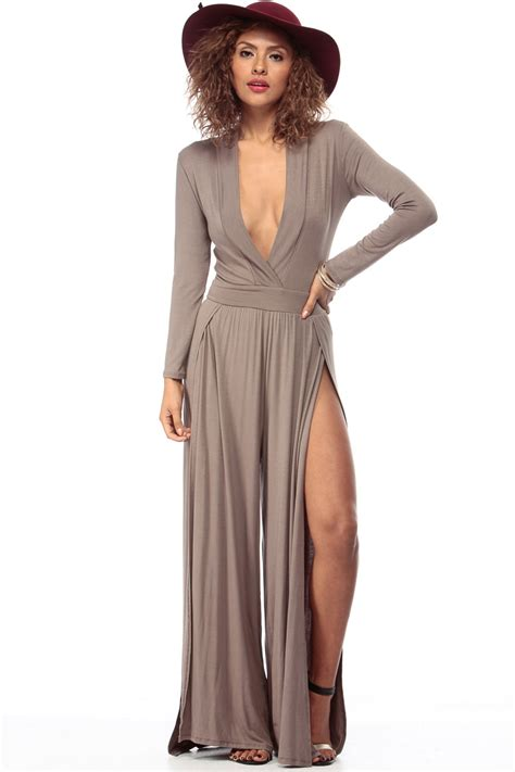 dressy jumpsuit taupe and dressy palazzo jumpsuit cicihot dresses
