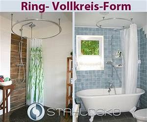 Duschvorhangstange Für Badewanne : vollkreis duschvorhangstange als ring gebogen f r dusche ~ Watch28wear.com Haus und Dekorationen