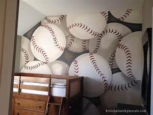 Kristin Plansky Murals Boys Baseball Bedroom